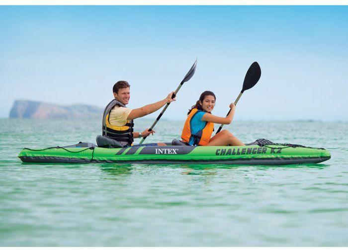 Intex K2 Challenger Kayak 2 Man Inflatable Canoe With Oars