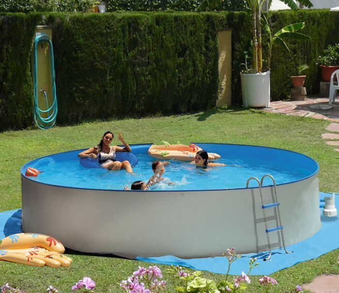 white coral round pool x metal frame round pools. Black Bedroom Furniture Sets. Home Design Ideas
