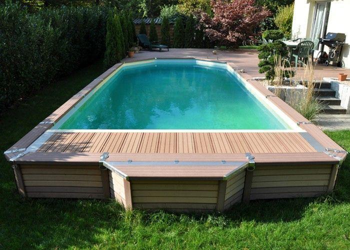 4m Plastica Wooden Pool Rectangular Wooden Pool 4m