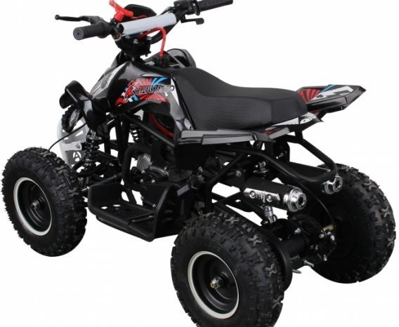 50cc Dirt Ninja Mini Off-Road Petrol Quad Bike - Red Thumnail #1