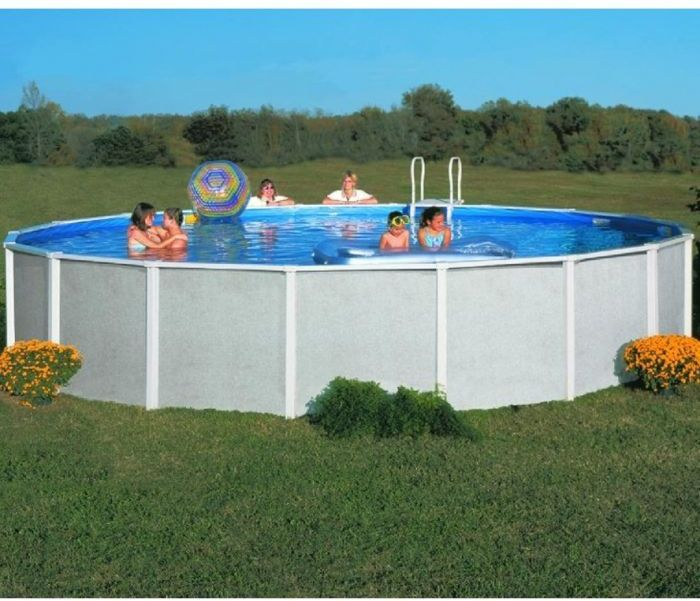 Doughboy premier round steel pool 12ft steel pools for 12 ft garden pool