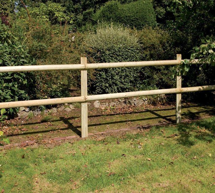Half round post rail fencing from grange