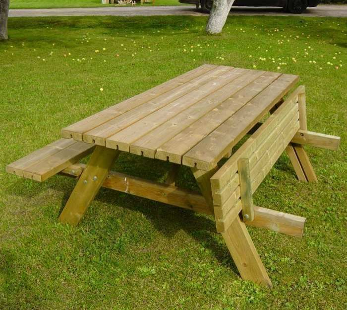 Oblong Garden Table With Seats Garden Seats Arches And