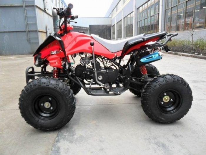 Predator 110cc 4 Stroke Quad Bike With Reverse - Red Thumnail #1