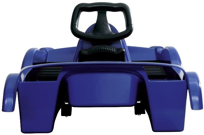 Snow Double Racer Blue Sledge Toboggan Thumnail #1