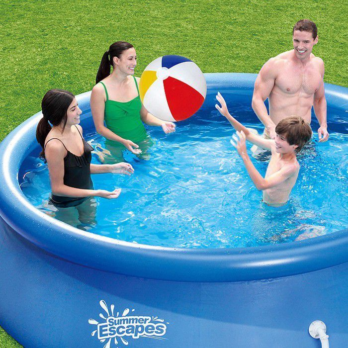 Summer escapes quick set round inflatable pool 12ft x 30 - Inflatable quick set swimming pool ...