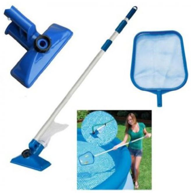 Pool Maintenance Kit With Telescopic Pole Pool Cleaning
