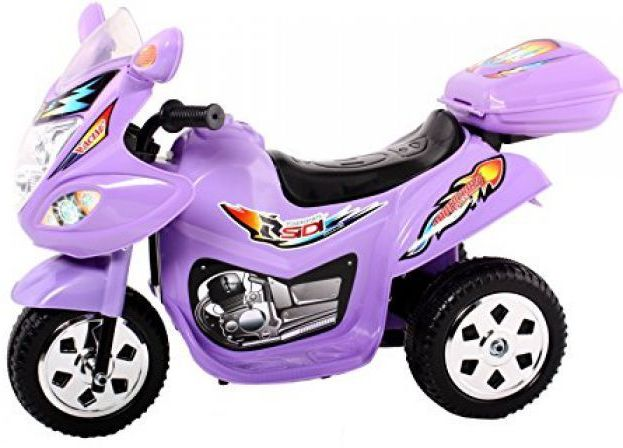 Childrens Trike 6v Ride On Toy - Purple Thumnail #1