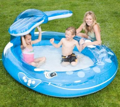 Whale Spray Paddling Pool - 57435