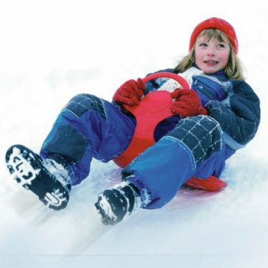 Snow Glider Red Sledge Toboggan