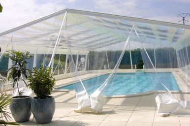 Amazone swimming pool enclosure full height telescopic - Swimming pool enclosures prices uk ...
