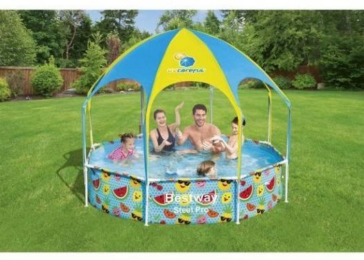 Steel Pro UV Careful 8ft x 20in Splash-in-Shade Play Pool- 56432