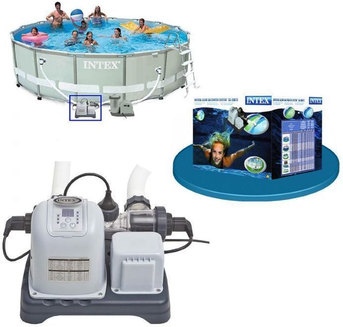 Intex krystal clear saltwater system for pools up to - Saltwater swimming pool chemistry ...