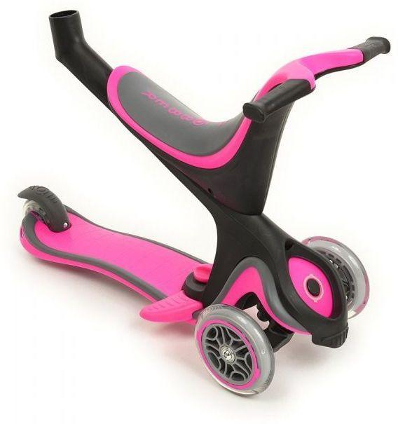 globber evo 5 in 1 scooter pink ride on toys. Black Bedroom Furniture Sets. Home Design Ideas