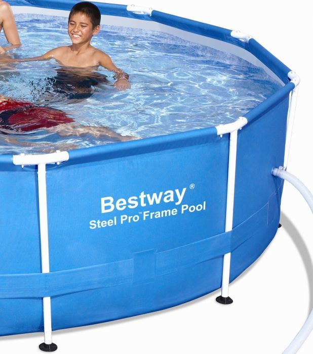 Bestway steel pro metal frame round pool 12ft x 30 - Bestway steel frame swimming pool ...