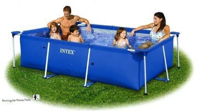 "Intex Rectangular Metal Frame Pool No Pump 177 1/4"" x 86 5/8"" x 33"" - 28273 Thumnail #2"