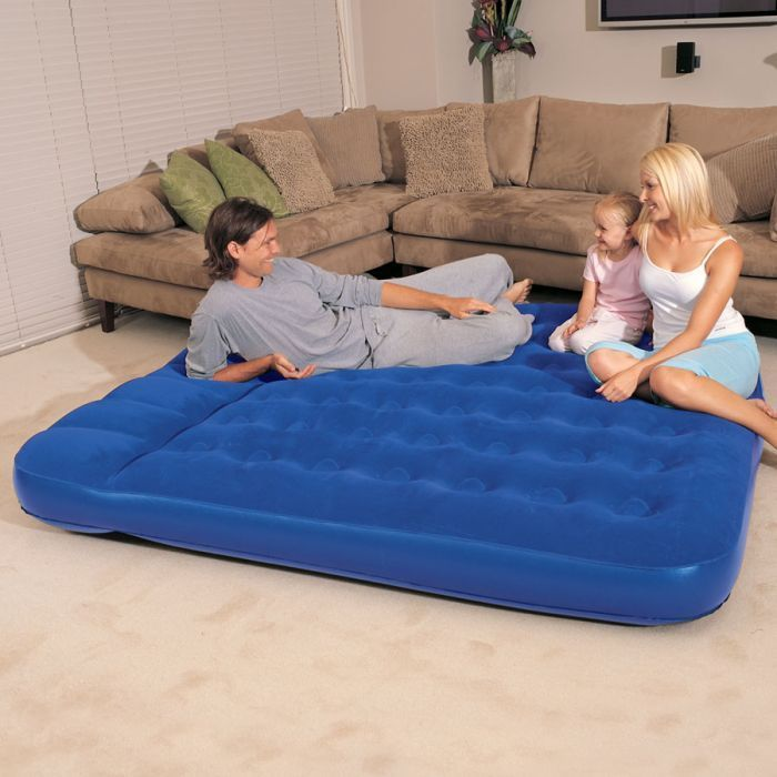 Bestway King Easy Inflate Flocked Air Bed With Built In
