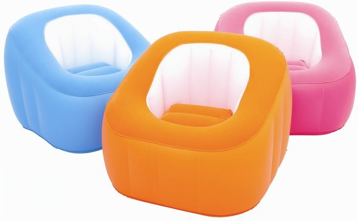 Comfi Cube Blue Inflatable Chair Inflatable Toys