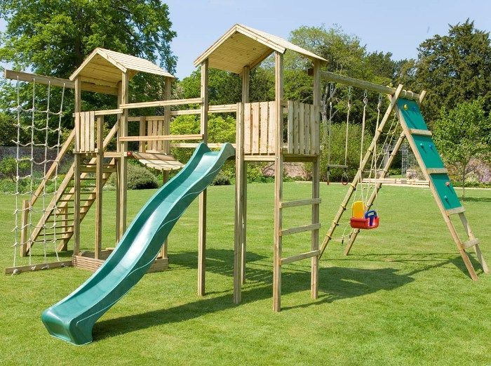 Monmouth Twin Towers With Swings Slide Amp Assault Course