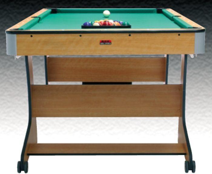 Bce 6ft folding pool table splash relax for Pool table 6 x 3