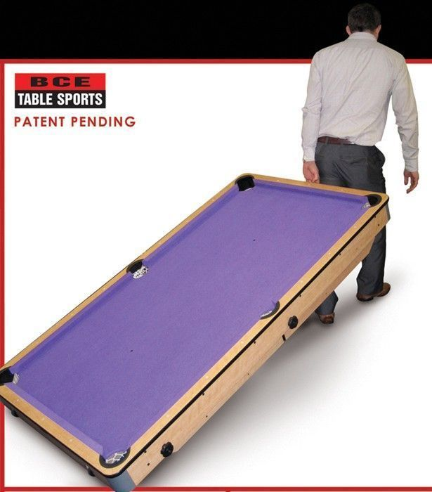 Bce 6ft folding lay flat pool table cp 6ag for Pool table 6 x 3