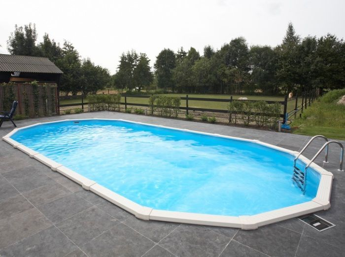 Doughboy premier oval steel pool 20ft x 12ft steel pools for 12 ft garden pool