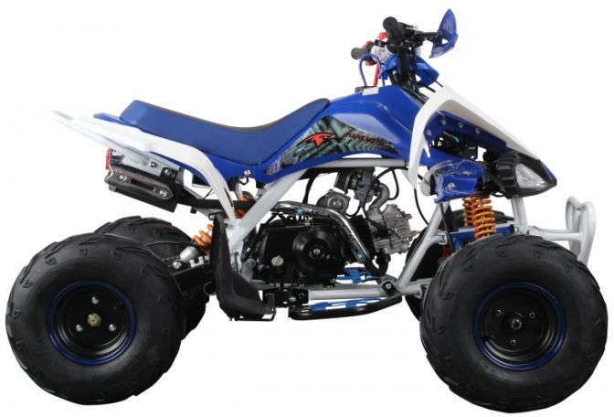 Interceptor 125cc 4 Stroke Quad Bike - Blue Thumnail #2