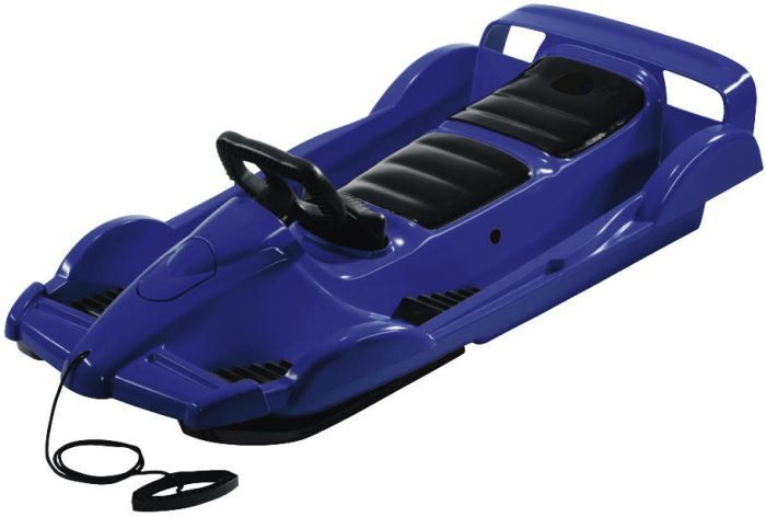 Snow Double Racer Blue Sledge Toboggan Thumnail #2