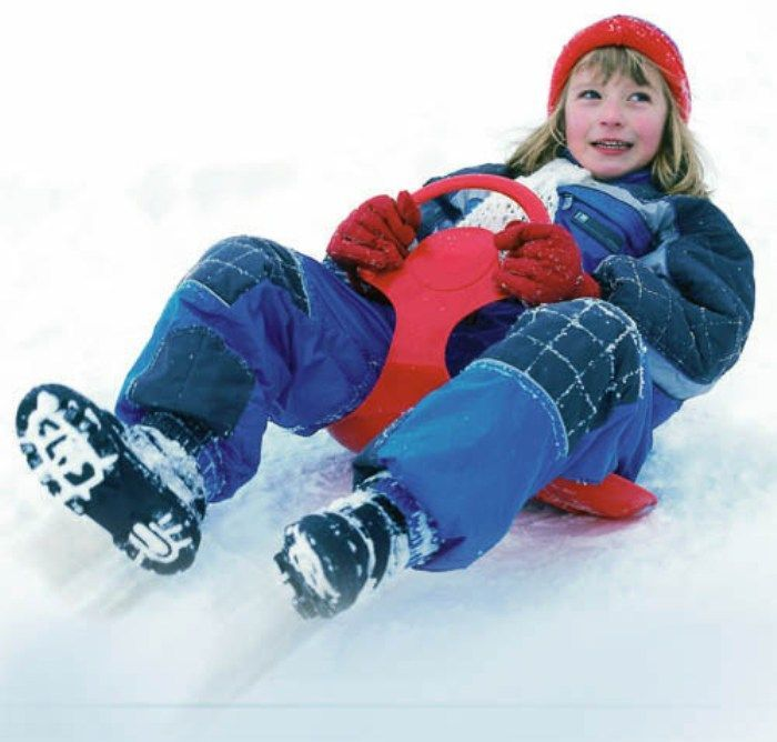 Snow Glider Red Sledge Toboggan  Thumnail #2