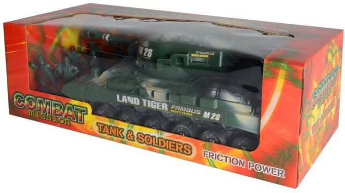 """""""Combat Mission"""" Friction Powered Army Tank & Soldiers"""