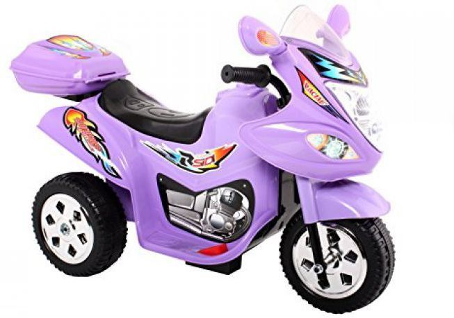 Childrens Trike 6v Ride On Toy - Purple Thumnail #2