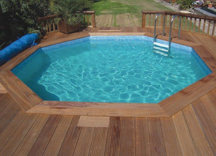 eco octagonal wooden pool from plastica x. Black Bedroom Furniture Sets. Home Design Ideas