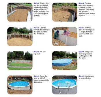 steel swimming pool 15ft doughboy regent round steel pool 12ft