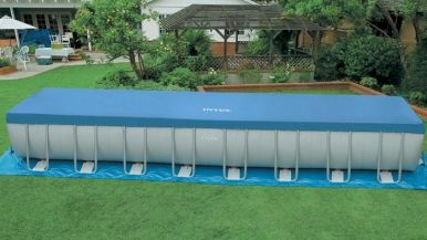 intex ultra frame rectangular metal pool 16 x 32 x 52 28372