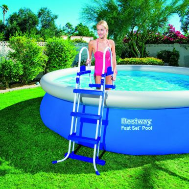 Bestway Oval Frame Inflatable Pool 10ft X 16ft X 42 Quot 56269