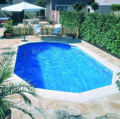 Doughboy regent oval steel pool 28ft x 16ft steel pools for Standard swimming pool size uk