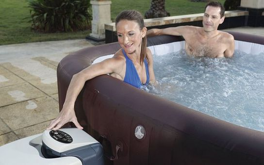 Lay-Z-Spa Maldives HydroJet Pro Square Inflatable Portable Hot Tub Spa - 54173