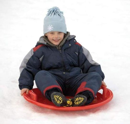Snow UFO Green Sledge Toboggan