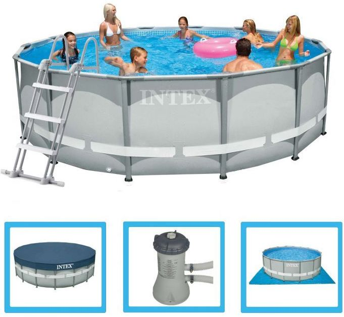 Intex Ultra Metal Frame Round Metal Pool 14ft X 42