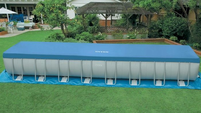 Intex ultra frame rectangular metal pool 16 39 x 32 39 x 52 - Ultra frame rectangular swimming pool ...