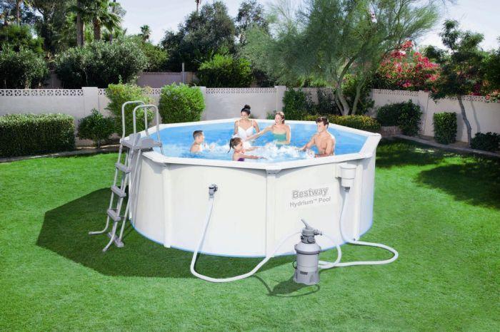 bestway hydrium poseidon steel pool package 12ft x 48. Black Bedroom Furniture Sets. Home Design Ideas