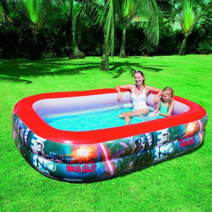 Star wars family paddling pool 8 6ft x 69in x 20in 91207 for Family paddling pool