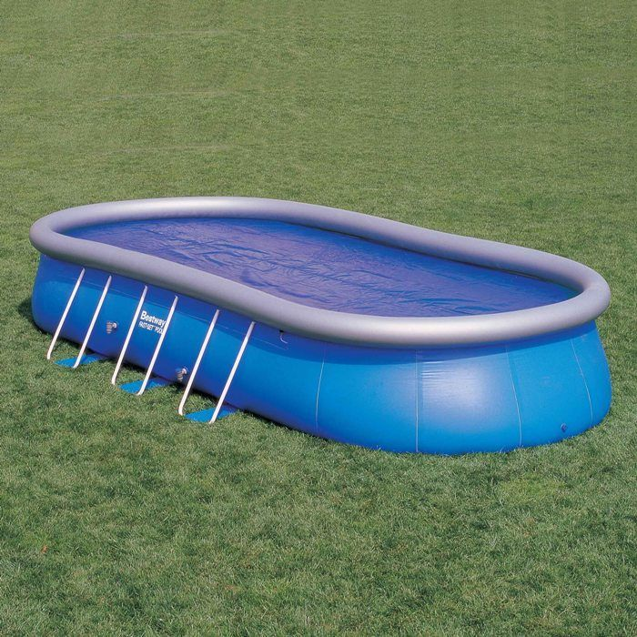 Solar pool cover for 18ft x 12ft oval pools thumnail 1 for 12ft solar swimming pool covers