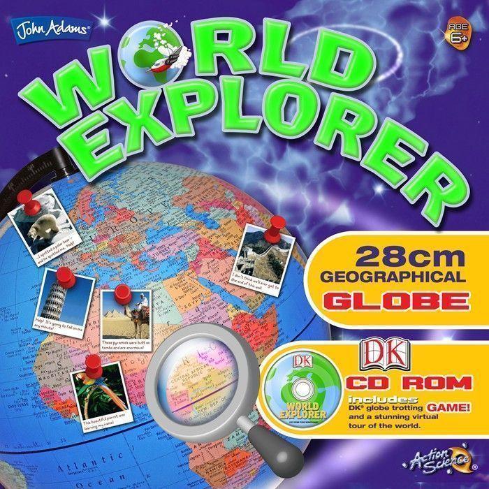 World Explorer 28cm Globe With DK CD-Rom - Globes & Maps