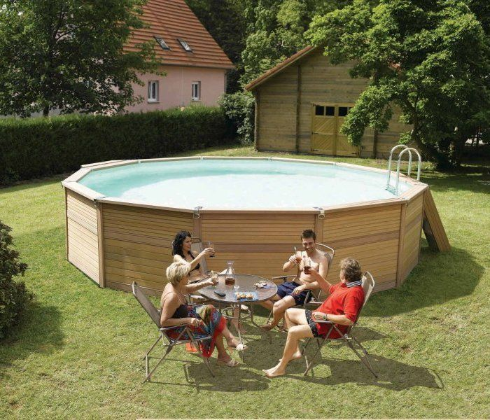 zodiac azteck maxiwood round wooden pool 5m wooden pools. Black Bedroom Furniture Sets. Home Design Ideas