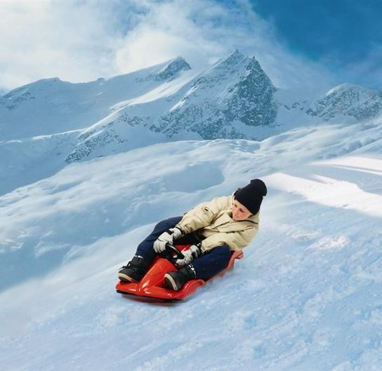 Snow Racer Red Sledge Toboggan