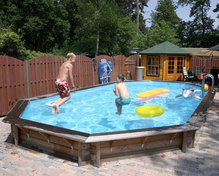 doughboy stretched octagonal wooden pool x wooden pools. Black Bedroom Furniture Sets. Home Design Ideas