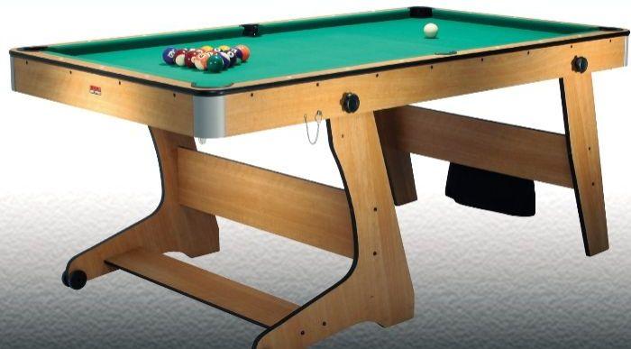 Bce 6ft folding pool table splash relax for Oak beauty pool table