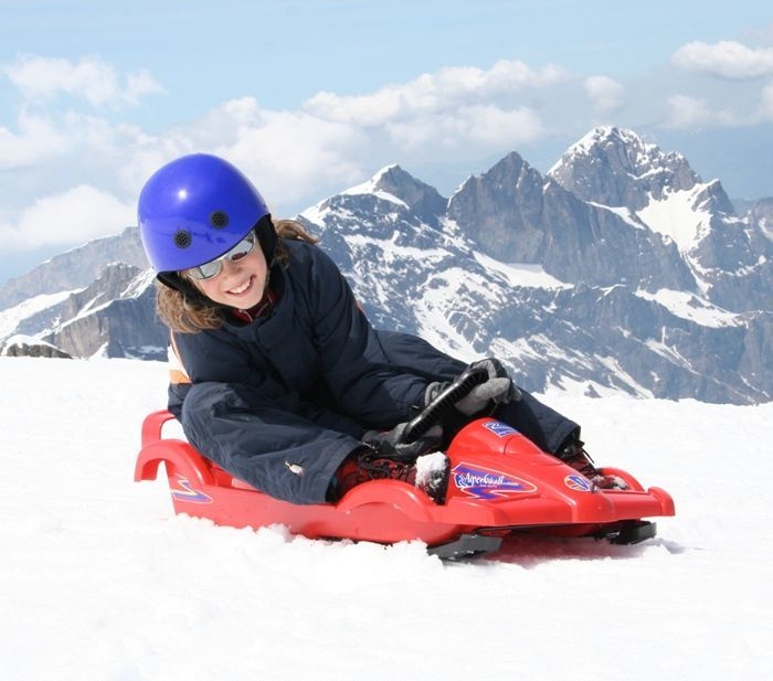 Snow Double Racer Blue Sledge Toboggan Thumnail #5