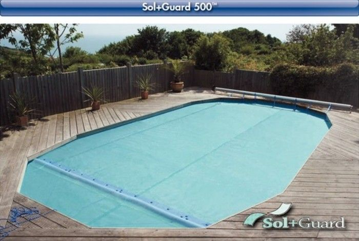 Solar pool cover sol guard 140 12ft x 24ft rectangular pool covers summer for 12ft solar swimming pool covers